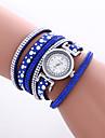Γυναικεία Βραχιόλι Ρολόι Ρολόι Καρπού Χαλαζίας Συνθετικό δέρμα με επένδυση Μαύρο / Λευκή / Μπλε Απίθανο Πολύχρωμα Αναλογικό Βίντατζ Heart Shape Καθημερινό Μποέμ Βραχιόλι - Καφέ Κόκκινο Μπλε / KC 377Α
