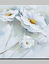 Pictat manual Natură moartă / Floral/Botanic Picturi de ulei,Modern Un Panou Canava Hang-pictate pictură în ulei For Pagina de decorare