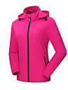 Women\'s Outdoor Winter Windproof Waterproof Breathable Quick Dry Windbreaker Softshell Jacket Camping / Hiking Fishing Climbing Black / Rose Pink / Light Grey