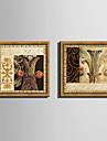 Pânză Înrămată Set Înrămat Floral/Botanic Wall Art, PVC Material cu Frame Pagina de decorare cadru Art Sufragerie Dormitor Bucătărie