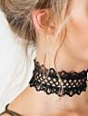 Pentru femei Coliere Choker / Coliere / tatuaj cravată  -  Dantelă Stil Tatuaj, Modă, Declarație Alb, Negru Coliere Pentru Cadouri de Crăciun, Petrecere, Zi de Naștere