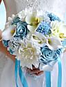 Flori de Nuntă Rotund Trandafiri Bujori Buchete Nuntă Petrecere / Seară Poliester Satin Taftă Spandex Spumă Flori Uscate Ștras