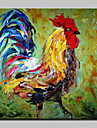 HANDMÅLAD Popkonst Fyrkantig, Moderna Duk Hang målad oljemålning Hem-dekoration En panel