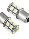 1156 BA15s P21W ledde bil glödlampa 13 SMD 5050 för svans / broms / varv / parkeringsljus 12V DC (2 st)