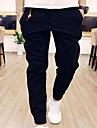 Bărbați De Bază Bumbac Pantaloni Chinos Pantaloni Mată / Sfârșit de săptămână