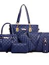 Femei Genți Toate Sezoanele Material de construcții Seturi de sac Ținte pentru Oficial Auriu Alb Negru Cafea Albastru