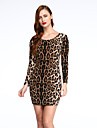 Pentru femei Bodycon Rochie Leopard Mini