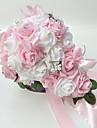 """Flori de Nuntă Formă liberă Trandafiri Buchete Nuntă Petrecere / Seară Satin Spumă 9.84""""(Approx.25cm)"""