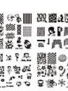 Blomma - Finger / Tå - Andra Dekorationer - av Metall - 10st nagel plåt - styck 6.2cmX6.2cm each piece - cm