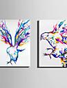 panza Set Animal Modern,Două Panouri Canava Vertical print Arta Decor de perete For Pagina de decorare