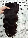 Äkta hår Brasilianskt hår Human Hår vävar Kroppsvågor Hårförlängningar 3 delar Svart
