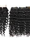 Brasilianskt hår Stora vågor Hårförlängning av äkta hår 4 delar 0.4