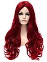 Femme Perruque Synthetique Sans bonnet Long Tres long Ondulation Naturelle Rouge Perruque Naturelle Perruque Halloween Perruque de
