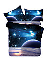 Duvet Cover Sets 3D Polyester Reactive Print 4 PieceBedding Sets / 400