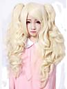 Peruci Lolita Lolita dulce Prințesă Mediu / Buclat Auriu Peruci Lolita 55 CM Peruci de Cosplay Solid Perucă Pentru Dame