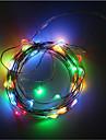 baterie 3aa alimentat 5m 50 a condus sârmă de cupru benzi de Crăciun lumini de iluminat decorare de vacanță cu baterie caseta a condus
