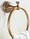 Barre porte-serviette Neoclassique Laiton 1 piece - Bain d\'hotel anneau de serviette