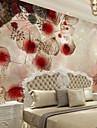 Blommig Konst Dekor 3D Hem-dekoration Nutida Tapetsering, Duk Material lim behövs Väggmålning, Tapet