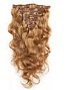 A Clipser Extensions de cheveux humains Cheveux humains Ondulation naturelle Femme Quotidien