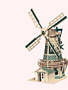 Wooden Puzzle Windmill Windmill Famous buildings Chinese Architecture House Professional Level Wooden 1pcs Kid\'s Boys\' Gift