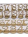 Culoarea Lemnului Tabelul Center Pieces-Nepersonalizat Suporturi carduri loc 20 Piece / Set