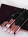 12pcs Makyaj fırçaları Profesyonel Far Fırçası Keçi Kılı Fırça / Suni Fibre Fırça Profesyonel