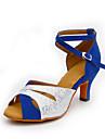 Latin-Pantofi de dans(Albastru Argintiu) -Personalizabili-Damă