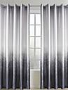 Två paneler Fönster Behandling Rustik Vardagsrum Polyester Material gardiner draperier Hem-dekoration For Fönster
