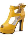 Damă Pantofi Materiale Personalizate Imitație de Piele Primăvară Vară Toamnă Confortabili Noutăți Sandale Toc Gros Blocați călcâiul