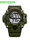 SANDA Heren Digitaal Japanse quartz Polshorloge Smart horloge Militair horloge Sporthorloge Kalender LED s Nachts oplichtend Stopwatch