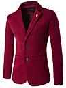 Bărbați Stand Blazer Plus Size Vintage,Mată Manșon Lung Toamnă Iarnă-Regular Bumbac
