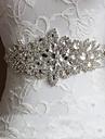 Satin Nuntă Party / Seara Zilnice Cercevea With Piatră Semiprețioasă Cristal Pentru femei Panglici