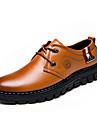 Homme Chaussures Cuir Printemps Ete Automne Hiver Bottes a la Mode Confort Oxfords Lacet Pour Decontracte Soiree & Evenement Jaune Marron