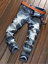 Bărbați Drept Simplu Talie Medie,Micro-elastic Blugi Pantaloni Chinos Pantaloni Solid