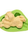 Diy câine în formă de mucegai silicon animal mucegai pentru tort bomboane budinca gheață ciocolată cookie culoare aleatoriu