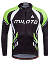 Miloto Men\'s Long Sleeve Cycling Jersey Stripes Bike Shirt Sweatshirt Jersey Breathable Quick Dry Reflective Strips Sports 100% Polyester Mountain Bike MTB Road Bike Cycling Clothing Apparel