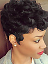 black hair short finger waves hairstyles capless human hair wigs for black woman 2017
