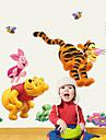 Animale Modă Desene Animate Perete Postituri Autocolante perete plane Autocolante de Perete Decorative, Hârtie Pagina de decorare de