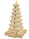 Wooden Puzzle Tower Famous buildings Chinese Architecture Professional Level Wooden 1 pcs Boys\' Girls\' Toy Gift