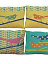 4.0 pcs Lin Naturel/Organique Taie d\'oreiller Housse de coussin, Couleur Pleine Texture Plage Traditionnel/Classique Bureau / Affaires
