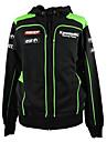 kawasaki motorsport curse hoodie sacou negru / verde culoare mens biker blush