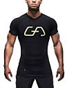 Homme Tee-shirt de Course Manches Courtes Sechage rapide, Respirable, Anti-transpiration Hauts / Top pour Exercice & Fitness / Course /