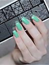ne joli timbre nail art modele estampage outil ongles plaque d\'image au pochoir