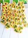 1 Gren Polyester Solrosor Väggblomma Konstgjorda blommor