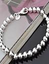 Dame Bratari Strand Argilă La modă Circle Shape Argintiu Bijuterii 1 buc