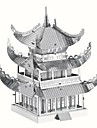 3D Puzzle Jigsaw Puzzle Metal Puzzle Famous buildings Chinese Architecture Creative Cool DIY Chic & Modern Elegant & Luxurious Chinese Style Boys\' Girls\' Toy Gift