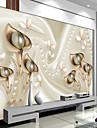 Art Deco #D Imagine de Fundal Pentru acasă Contemporan Placare a peretilor , Canava Material adeziv necesar mural , Tapetul camerei