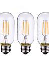 4W B22 E26/E27 Bec Filet LED 4 led-uri COB Intensitate Luminoasă Reglabilă Alb Cald 500-600lm 2700-3500K AC 220-240 AC 110 - 130V