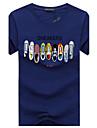 Bărbați Rotund Tricou Casul/Zilnic Plus Size Simplu(ă),Imprimeu Manșon scurt Vară-Mediu Bumbac
