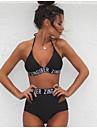 Pentru femei Bikini - Culoare pură, Mată Halter